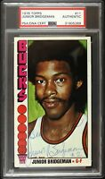 1976 Junior Bridgeman Milwaukee Bucks Signed Topps Card (PSA/DNA Slabbed)