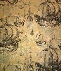 "Quadri/Tela/Stoffa/Tessuto""VELIERI DI FRIEDLINDE DI COLBERTALCO DINZI""cm.135x175"