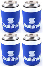 SouthTrust Bank Beer Soda Can Koozie Cooler Set of 4 South Trust