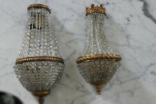 Set of 2  French Sconces in Excellent Condition with String Crystals