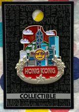 Hard Rock Cafe Hong Kong City Icon Pin Skyline Nickel Dragons