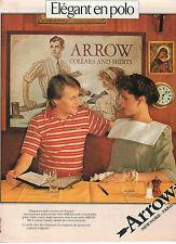 Publicité 1981  ARROW chemise polo pret à porter collection vetement mode