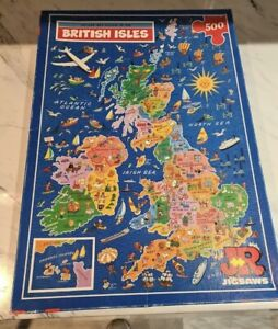 500 Piece Map Jigsaw Puzzle British Isles Complete Educational Age 10+ Geography