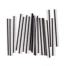 20Pcs 40Pin 2.54mm Singola fila maschio diritto Pin Header Connector Strip WQ