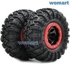 2 Stück 1/10 RC 2.2 Crawler Reifen Tires 130mm & 2.2 Beadlock Felge Wheels Rims