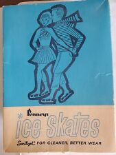 Vintage 1973 Penneys Men's Ice Skates in original box, size 10, w/ blade guards