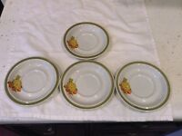 Stonecrest Japan Snack Plates Set Of 4 Pineapple Strawberry Green