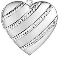 """925 Sterling Silver Women's 24"""" Link Chain Necklace And Heart Photo Locket D647C"""