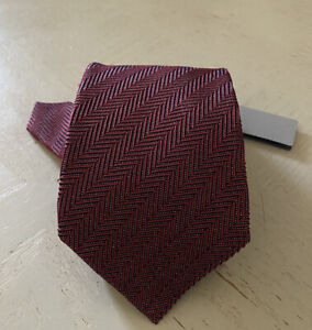 New $260 TOM FORD Tonal Stripes Silk/Cotton Tie Red Italy