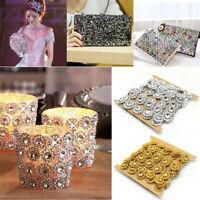 2Yd DIY Rhinestone Trim Crystal Chain Beaded Applique Sew Iron On Bridal Dress
