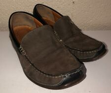 Mephisto Cool-Air Mens Brown Leather Slip On Comfort Shoes Size 7 USA 6.5 UK