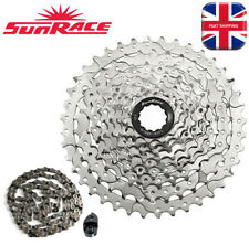 SUNRACE 8-11s Aluminum MTB Bike Cycling CNC Cassette Sprocket Chains Derailleur