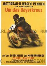 Late 1940s Nurnburg Ring Motorcycle Poster M ca 8 x 10 print prent poster prent