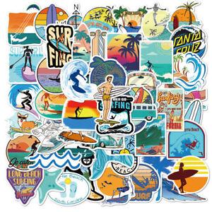 ⭐ 50 Stück Surf Sport / Surfing, Sommer Beach Urlaub Style Aufkleber Stickerbomb