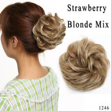 New Color Messy Bun Ponytail Hair Extension as Real Women Hair Updo Scrunchie US