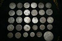 Lot Sale 30 Authentic Ancient Islamic Silver Umayyad & Abbasid Coins C 661-750CE