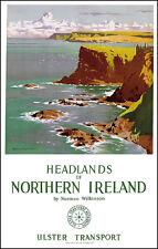 Cabecero de Irlanda del Norte viajar cartel Imagen de Impresión Arte de Pared