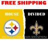 Pittsburgh Steelers vs New Orleans Saints House Divided Flag Banner 3x5 ft NEW