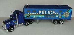 Matchbox Real Talkin' Police K-9 ~Kenworth Tractor Trailer~ NICE! Big Rig Semi