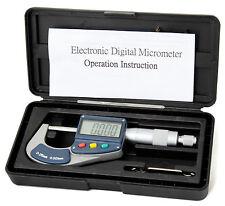 0-25mm Digitale Micrometro ESTERNO ESTERNI ELETTRONICO Gauge 12 mesi di garanzia
