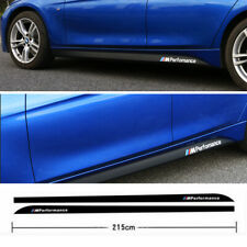 2.15m Sport Performance M Carbon Fiber Side Skirt Sill Stripe Stickers for BMW