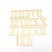 14x Römische Zahlen 1 bis 14, Ziffern, zum Anmalen und Basteln, Höhe 8cm DIY