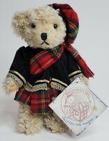 "Treasures Inc Teddy Bear Scotland Plush Stuffed Toy International Bears 9.5"""