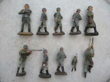 Elastolin WH Wehrmachtsoldaten versch Größen für Bastler 9 Stück davon ein GI