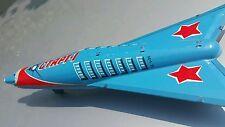 Vintage Weltraum Rakete Start - 1 sechziger Blechspielzeug Friction Holdraketa UdSSR Sowjet-Ära