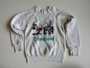 Vintage 1990s 35 Years of Magic Disney Wizard Mickey Kids Sweatshirt Size Large