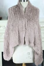 NEW COLOR 100% RABBIT FUR SWING VEST Dusty pink Free P&P