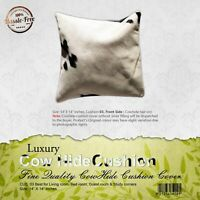 NEW COWHIDE LEATHER​ CUSHION COVER RUG COWHIDE HA​IR ON PILLOW COVER CUSHION: 03