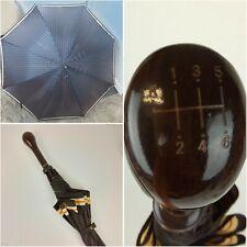 Vtg Aramis Umbrella Gear Shift Handle Walking Stick Cane Plastic Handle Stripe