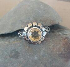 Aura-Stella Citrine Stone Sterling Silver 925 Ring Size 9