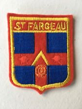Old Vintage French Souvenir Patch St Fargeau France Embroidered Cloth