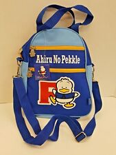 New NOS Sanrio Ahiru No Pekkle Blue Shoulder Bag Pack Purse Mr Duck Hello Kitty