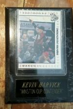 Kevin Harvick Autographed 2002 Press Pass Trading Card Plaque