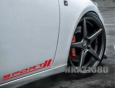 SPORT Decal Sticker Racing Performance Motorsport Car Emblem logo Set of 2 Pair