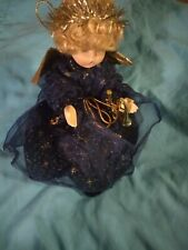 Sun Point Angel Christmas Tree Ornament Decoration Or Mantelpiece Porcelain Doll
