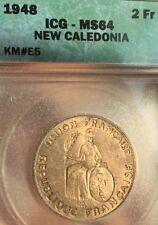 New Caledonia. 2 Francs. 1948. KM # E5. ICG MS64 Choice Uncirculated Essai.