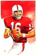 Jim Plunkett Stanford Cardinal Limited Edition Print By Jim Mellett