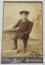 Schneidemuhl 1904 German U.S.S. Hohenzollern Photo Child in Uniform Signed!
