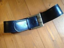 97d4fd8108a0 Ceinture Large Grosse Boucle Cuir Noir - Wide leather belt with Large Buckle