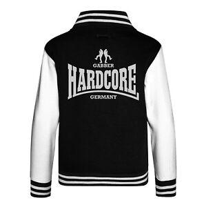 College Sweatjacke Hardcore Gabber Germany Jacke Varsity Uptempo Frenchcore NEU