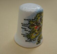 Vintage decorative porcelain thimble, Ireland, Souvenirs of Ireland