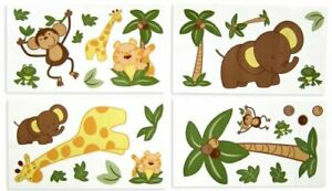 Jungle Babies Removable Wall Decals by NoJo