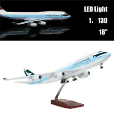 "18""(46cm)1:130 Cathay Pacific Boeing 747 Metal Plane Model with Light for Gift"