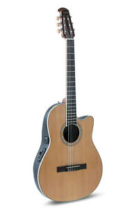 Ovation Celebrity Acoustic Electric Classical Guitar Nylon String - Natural