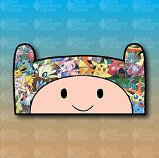 "Finn the Human Adventure Time Pokemon Collage 6"" JDM Custom Vinyl Decal Sticker"