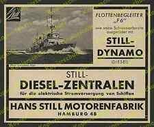 Hans still motores fábrica hamburgo marine flottenbegleiter f 6 urbahns Kiel 1938